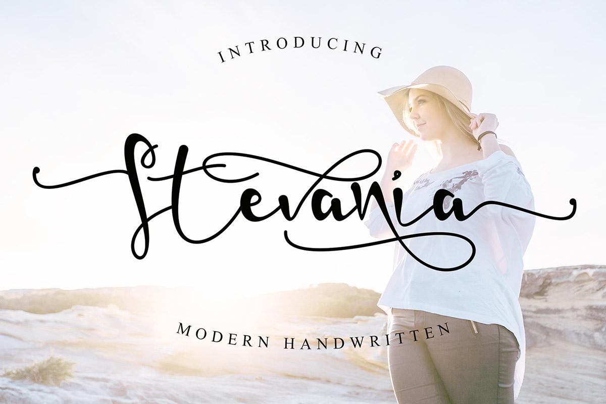 Free Stevania Script Font