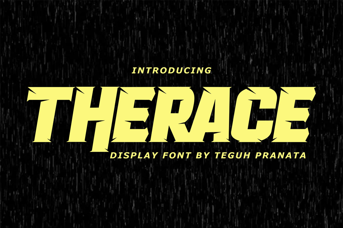 Free Therace Display Font