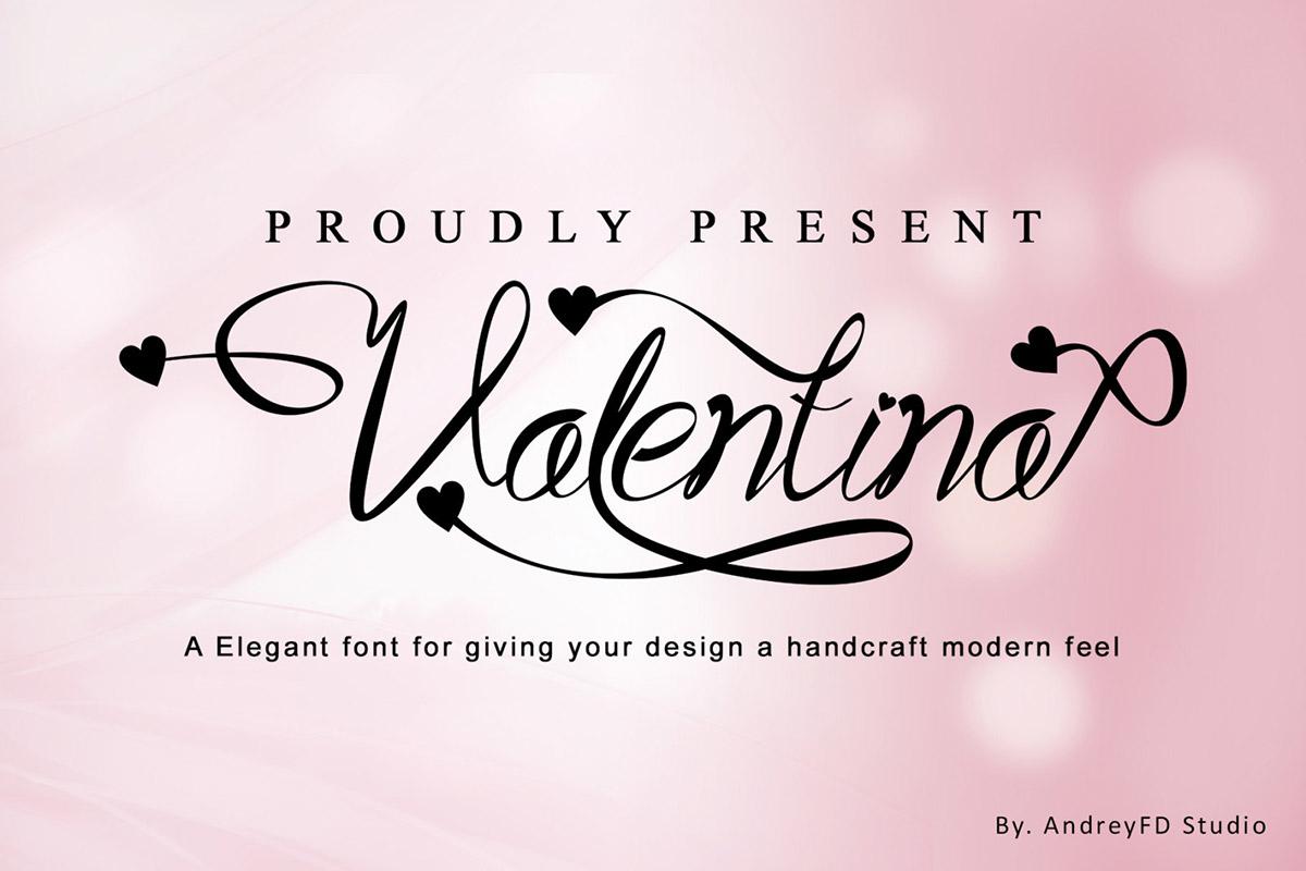 Free Valentina Script Font