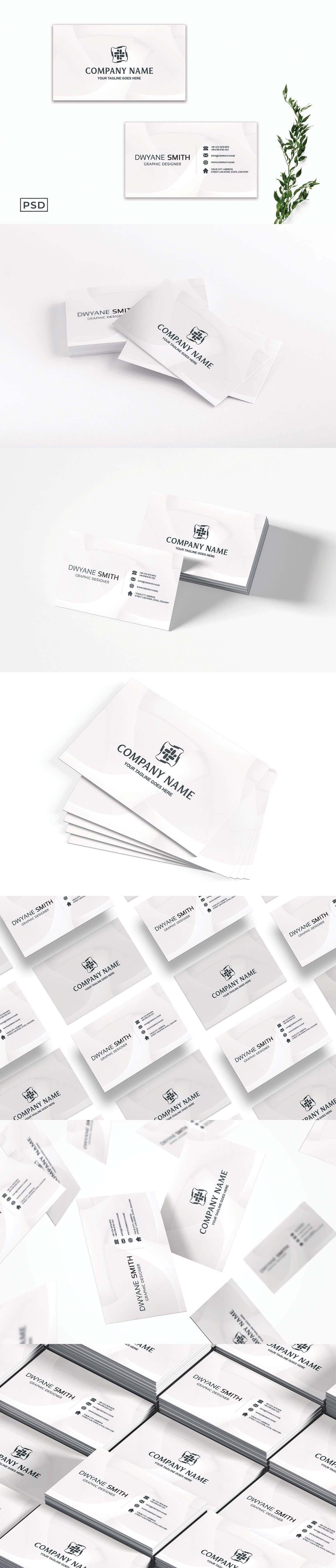 Free White Creative Business Card Template