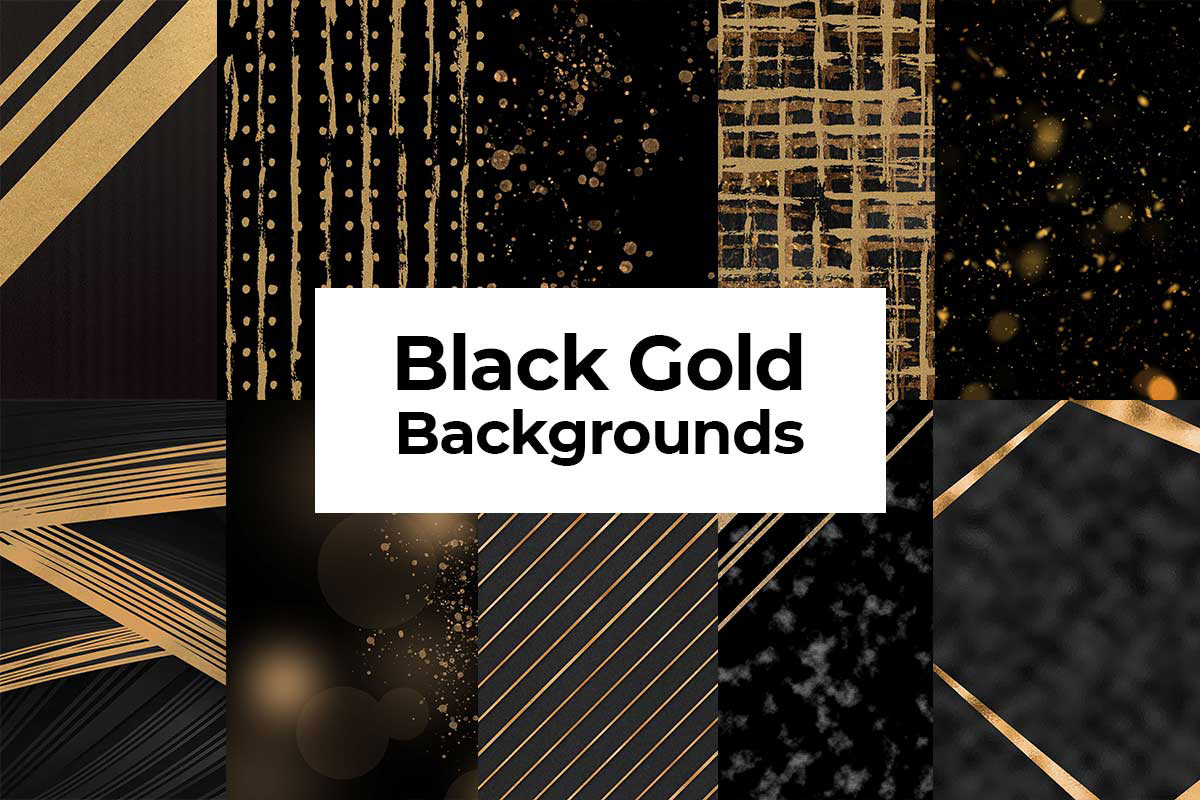 10 Free Black Gold Backgrounds