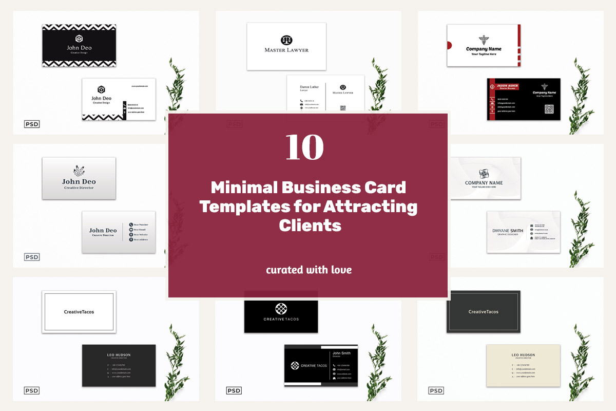 10 Minimal Business Card Templates for Attracting Clients