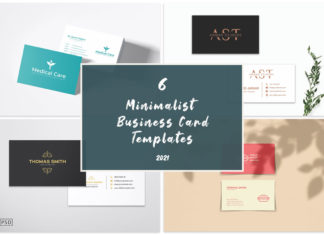 6 Minimalist Business Card Templates