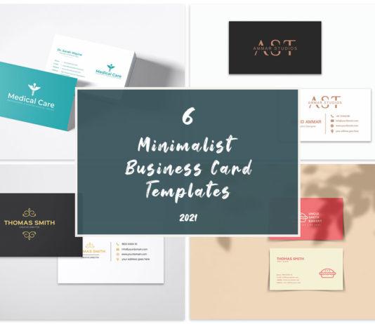 6 Minimalist Business Card Templates