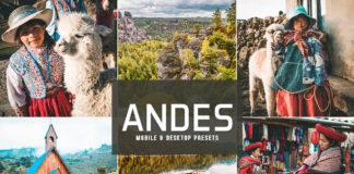 Free Andes Lightroom Presets