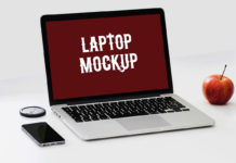 Free Awesome Laptop Mockup PSD