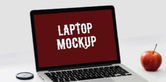 Free Awesome Laptop Mockup PSD