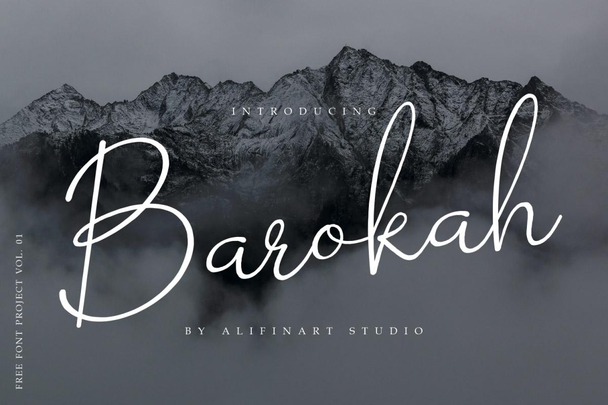 Free Barokah Signature Font
