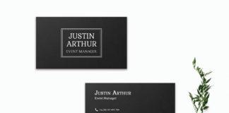Free Black Innovative Business Card Template V2