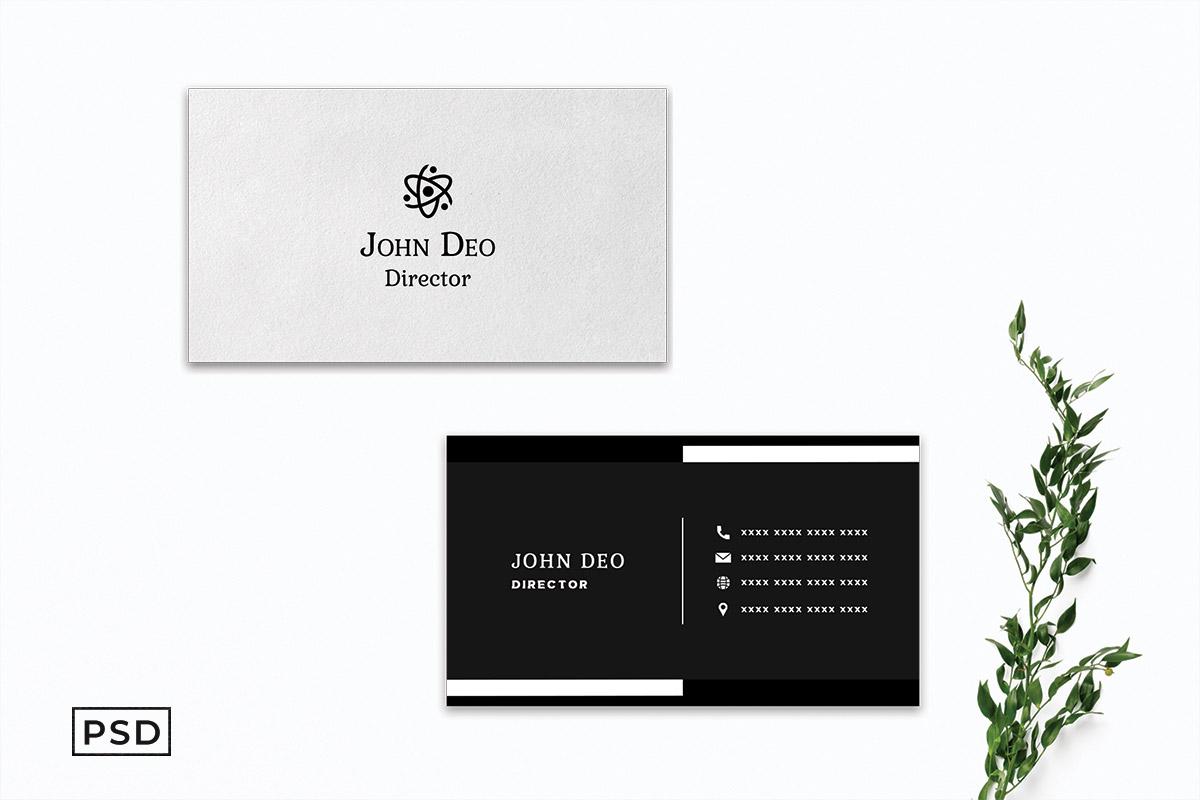 Free Black & White Creative Business Card Template