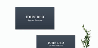 Free Blue Innovative Business Card Template