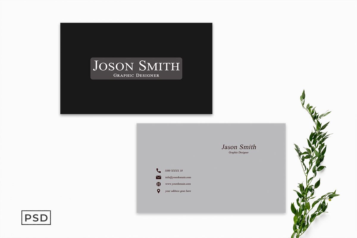 Free BW Simple Business Card Template