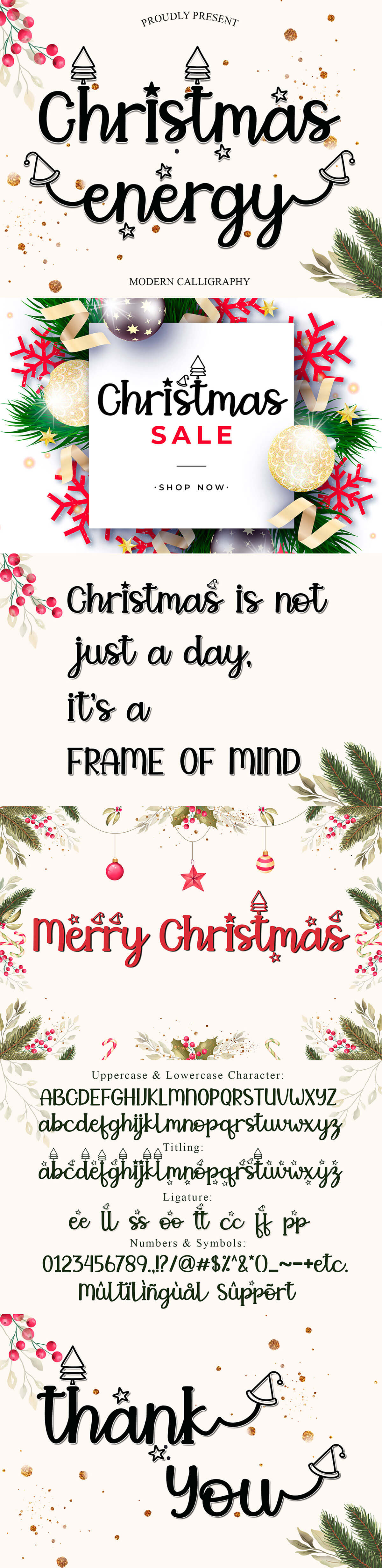 Free Christmas Energy Script Font