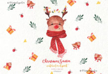 Free Christmas Santa Watercolor Clipart