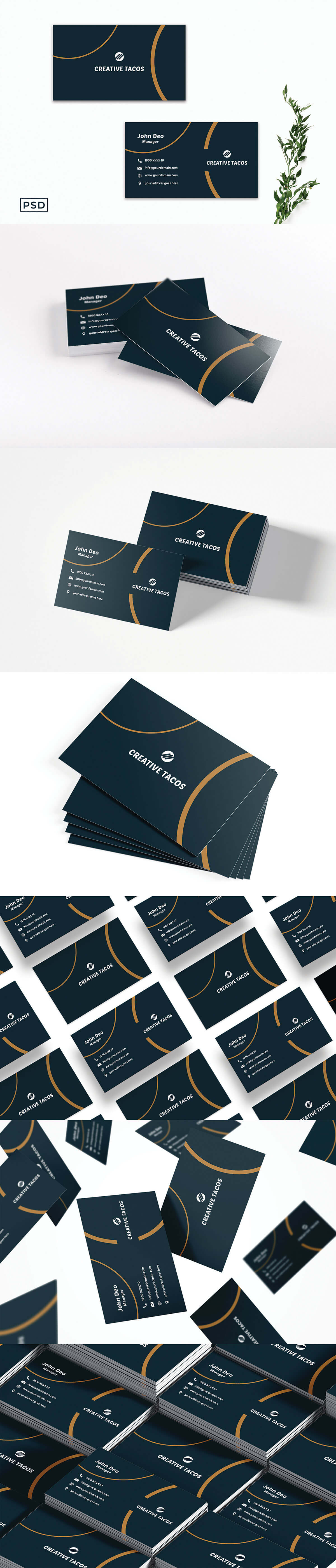 Free Creative Business Card Template V9