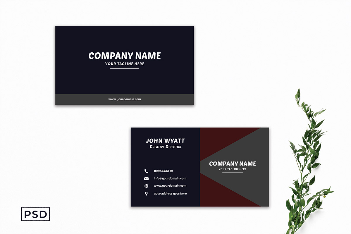 Free Creative Minimal Business Card Template V3