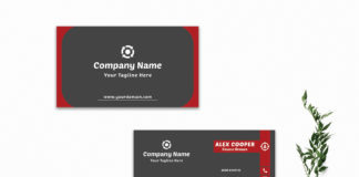 Free Creative Sober Business Card Template V3