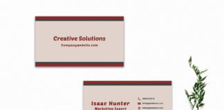 Free Creative Sober Business Card Template V2