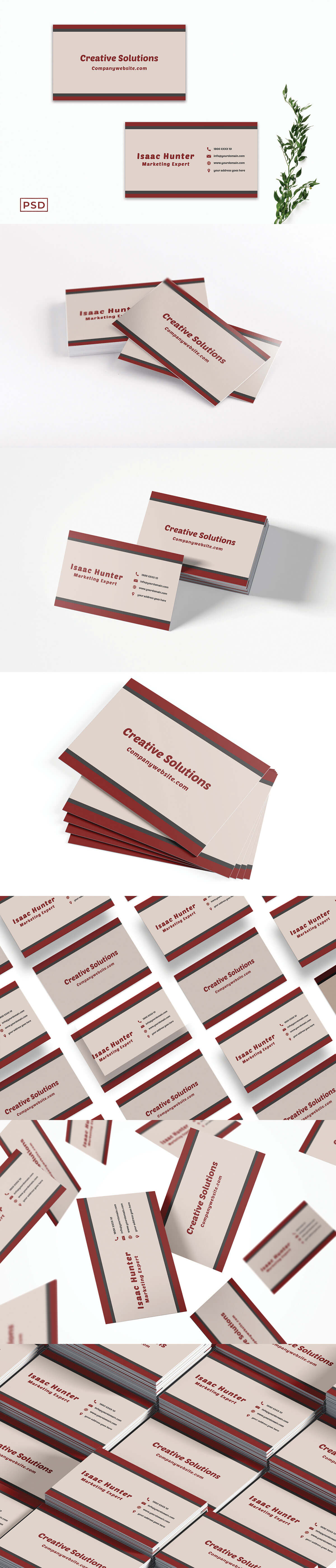 Free Creative Sober Business Card Template V2