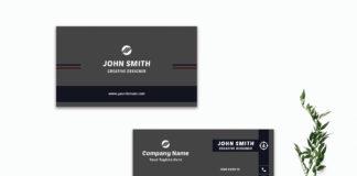 Free Dark Creative Business Card Template