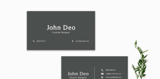 Free Dark Green Business Card Template1