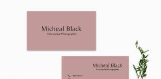 Free Dark Pink Minimal Business Card Template