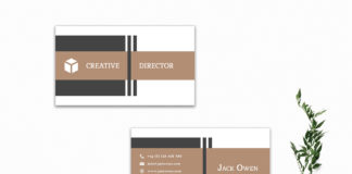 Free Decorative Business Card Template V3