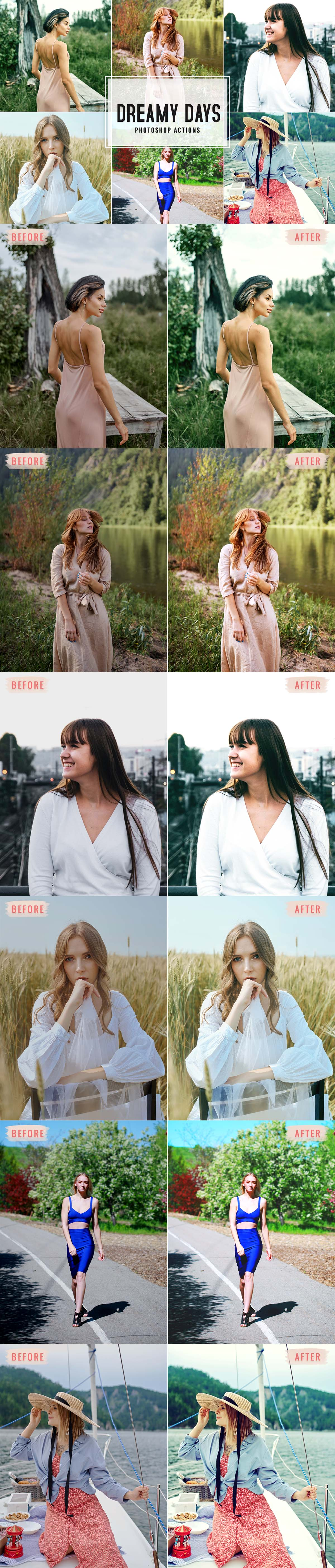 Free Dreamy Days Photoshop Actions
