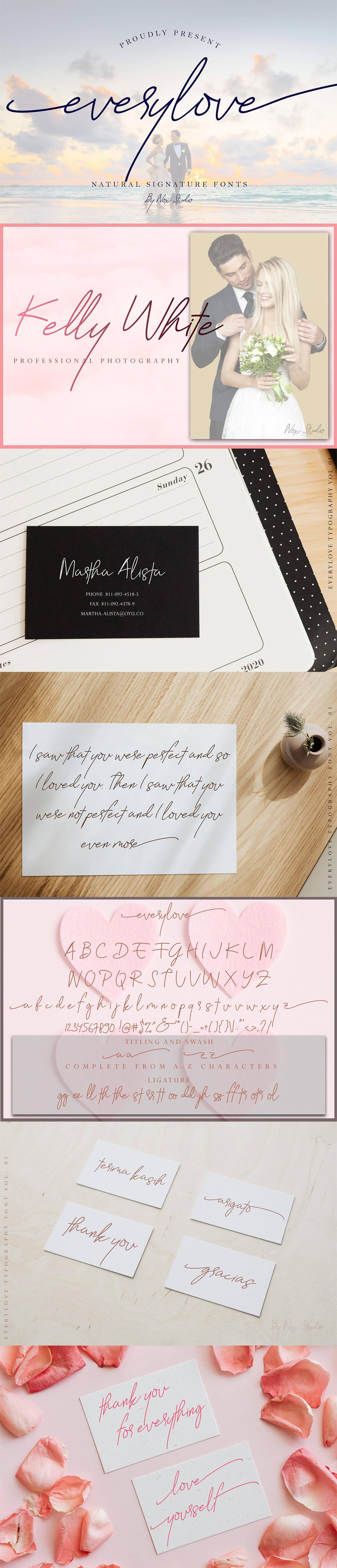 Free Everylove Handwritten Typeface