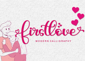 Free Firstlove Calligraphy Font