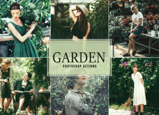 Free Garden Photoshop Actions