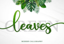 Free Green Leaves Handwritten Font