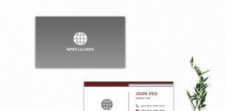 Free Grey & White Minimal Business Card Template