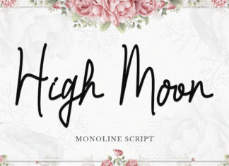 Free High Moon Script Font