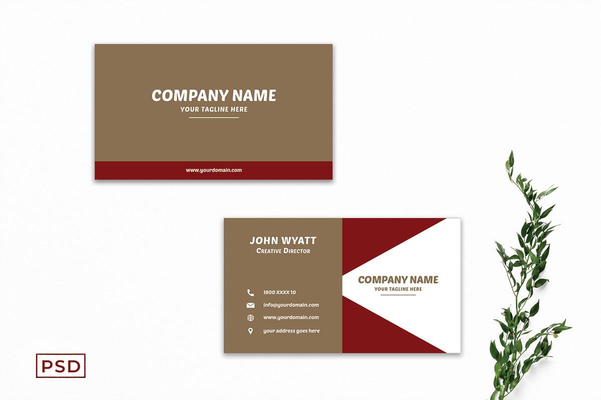 Free Innovative Business Card Template V5