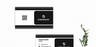 Free Innovative Business Card Template V6