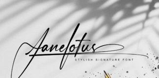 Free Janelotus Signature Font