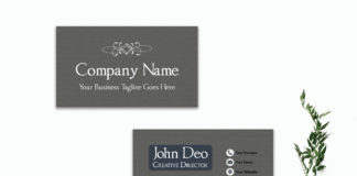 Free Modern Black Business Card Template