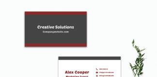 Free Modern Minimal Business Card Template