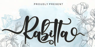 Free Rabitta Calligraphy Font