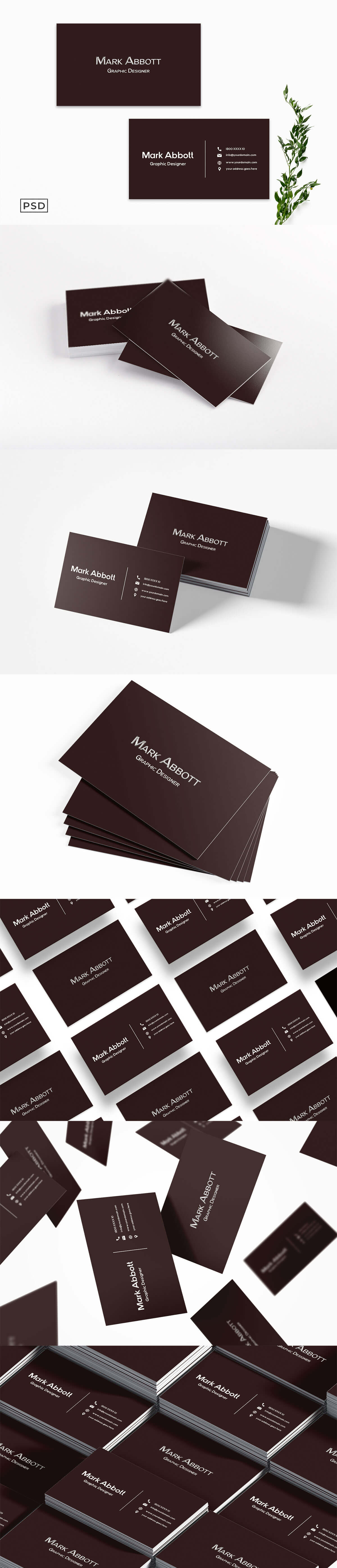 Free Chocolaty Red Business Card Template