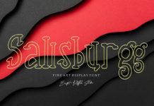 Free Sallsburgg Display Font