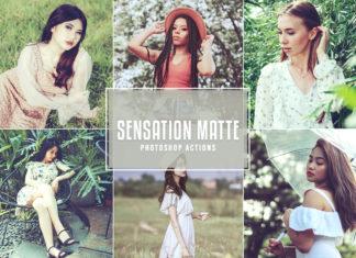 Free Sensation Matte Photoshop Actions
