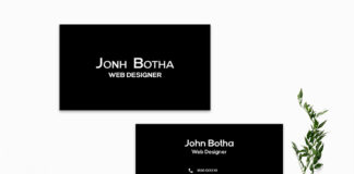 Free Simple Black Business Card Template V2