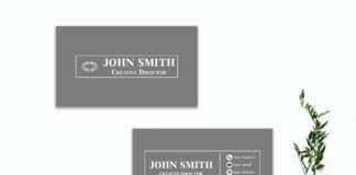 Free Simple Black Business Card Template V3