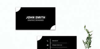 Free Simple Black & White Business Card Template