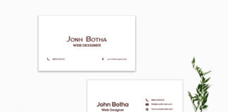 Free Simple Business Card Template V3