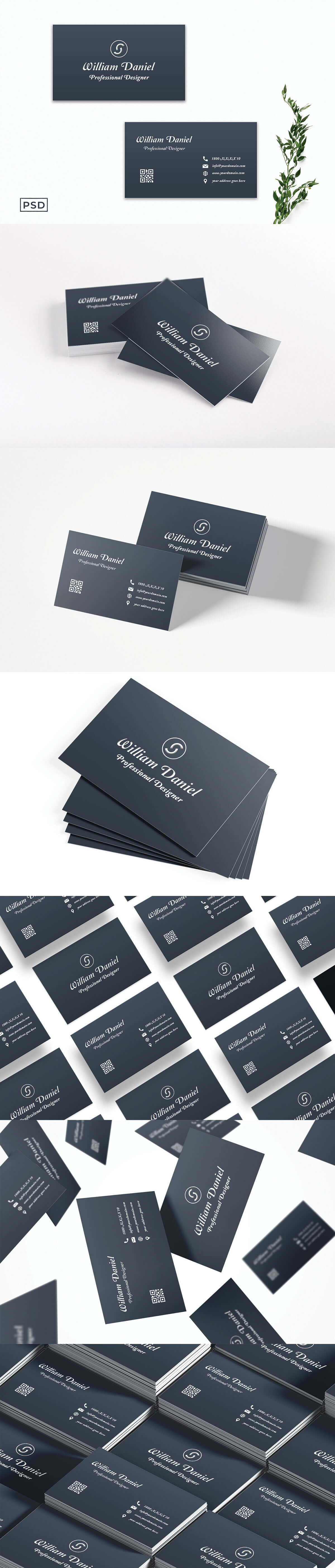 Free Simple Creative Business Card Template V2