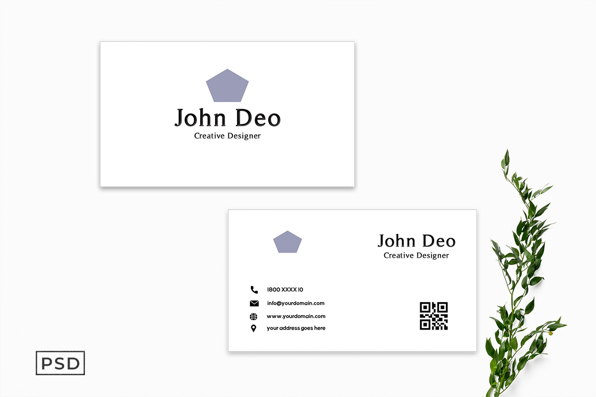 Free Simple Minimalist Business Card Template V2