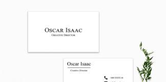 Free Simple Minimalist Business Card Template V3